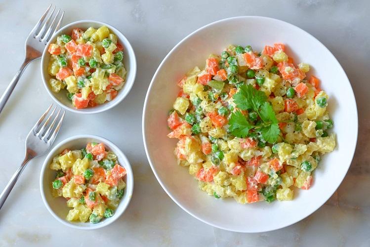 Salada de maionese tem sotaque russo